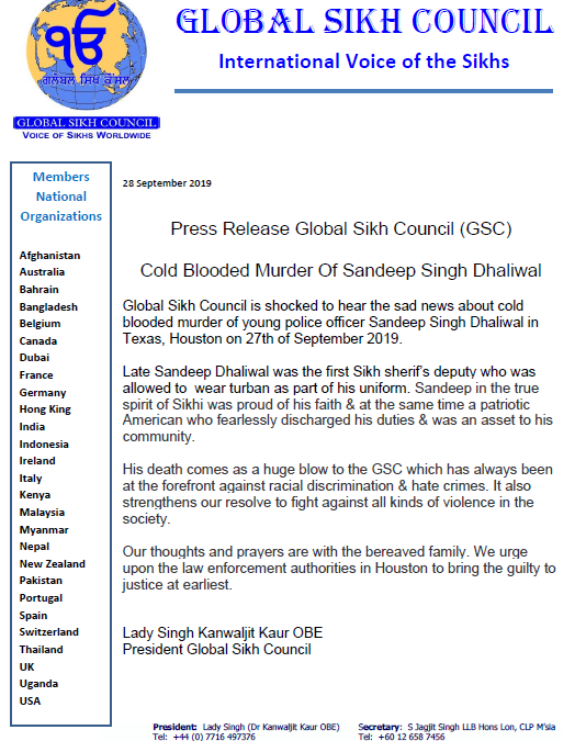Cold Blooded Murder Of Sandeep Singh Dhaliwal – September 2019
