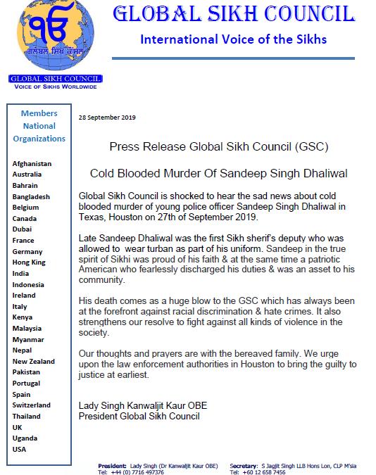 Cold Blooded Murder Of Sandeep Singh Dhaliwal – September 2019